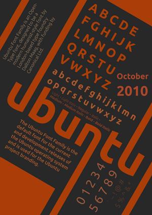 Ubuntu Font poster